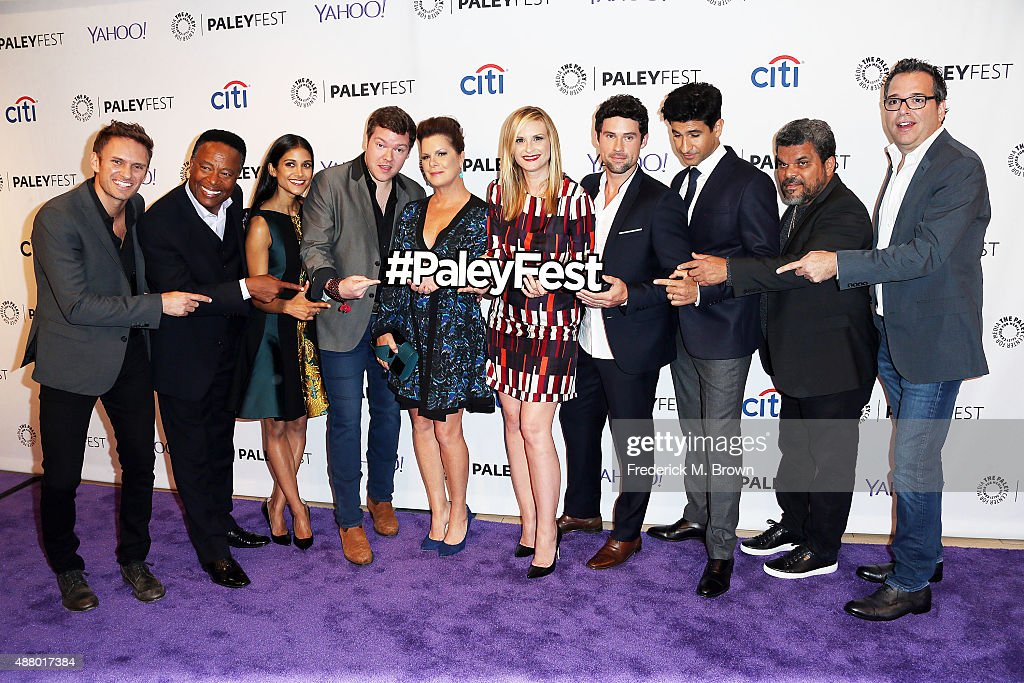 The cast and crew of the television show 'Code Black' Ryan McGarry William Allen Young Melanie Chandra Harry M Ford Marcia Gay Harden Bonnie...