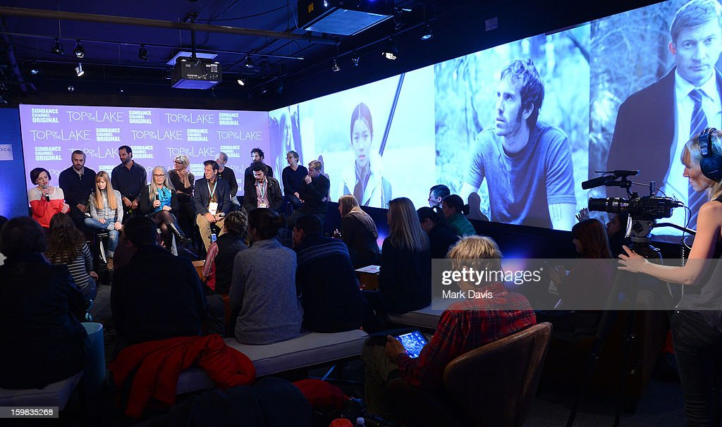 The cast and crew of 'Top of the Lake' speak to the audience at the press conference for Sundance Channel original series on January 21, 2013 in Park City, Utah.