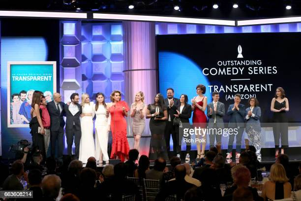 The cast and crew of 'Transparent' accept the award for Outstanding Comedy Series at the 28th Annual GLAAD Media Awards sponsored by LGBTQ ally Ketel...