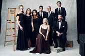 The cast and producers of 'Spotlight' Screenwriter Josh Singer actor Brian d'Arcy James producers Blye Pagon Faust Nicole Rocklin and Steve Golin...