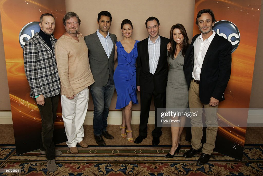 TOUR 2012 - The cast and producers of ABC's 'Missing' posed for a photo op with ABC executives at Disney/ABC Television Group's Winter Press Tour 2012. , GRANT SCHARBO (WRITER/EXECUTIVE PRODUCER), GINA MATTHEWS (EXECUTIVE PRODUCER), ASHLEY JUDD, CLIFF CURTIS, GREGORY POIRIER
