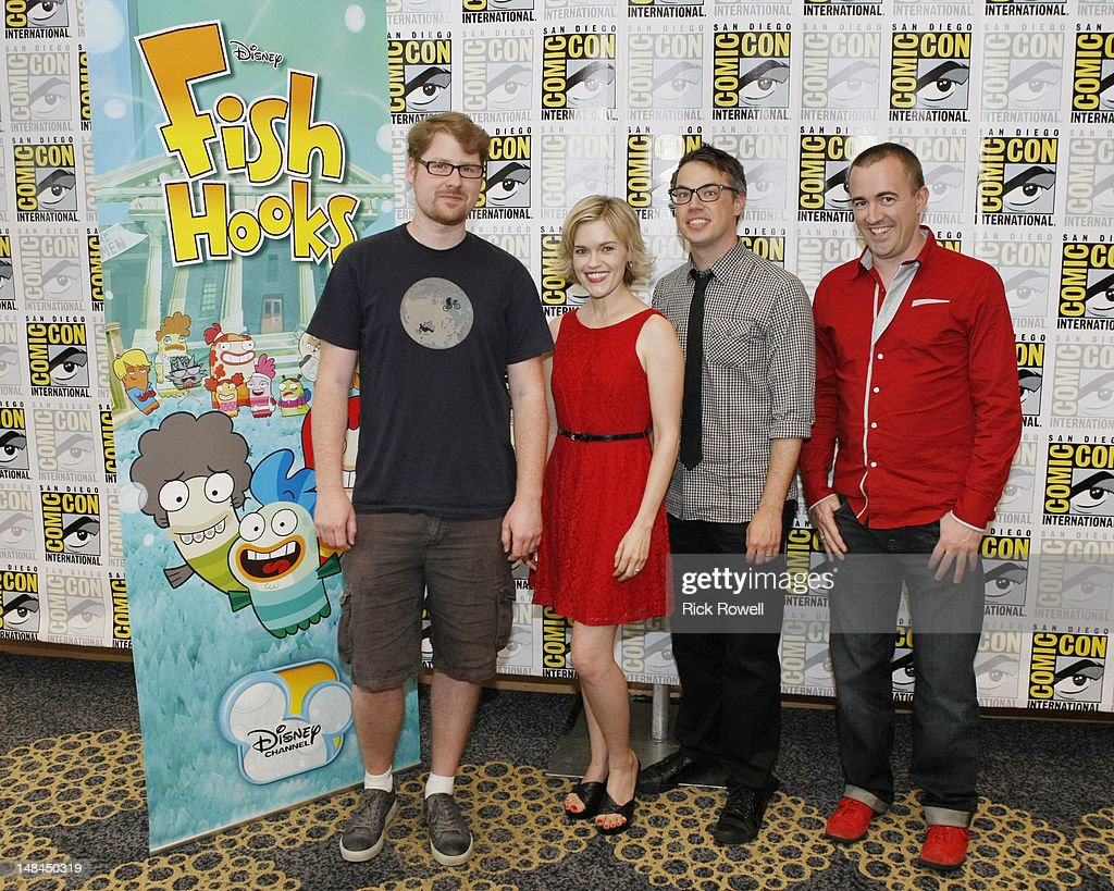 ANIMATION - The cast and production team from Disney Channel's 'Fish Hooks' participate in media interviews at Comic-Con International in San Diego, Calif. (July 14). JUSTIN ROILAND, KARI WAHLGREN, NOAH Z. JONES (CREATOR/EXECUTIVE PRODUCER, 'FISH HOOKS'), MAXWELL