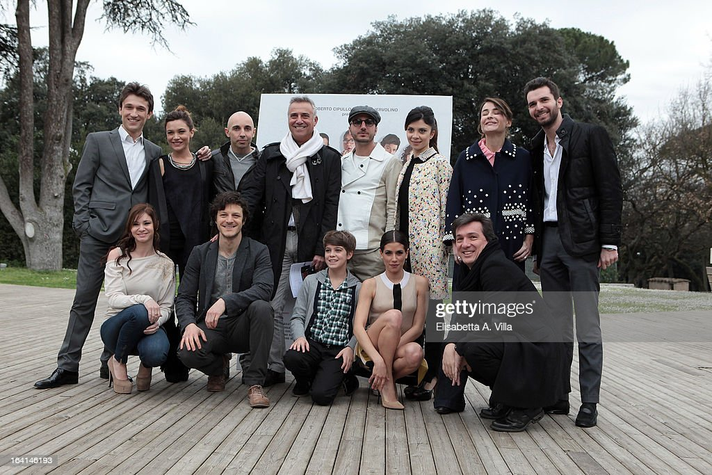 The cast attend 'Outing Fidanzati Per Sbaglio' photocall at Casa del Cinema on March 20, 2013 in Rome, Italy.