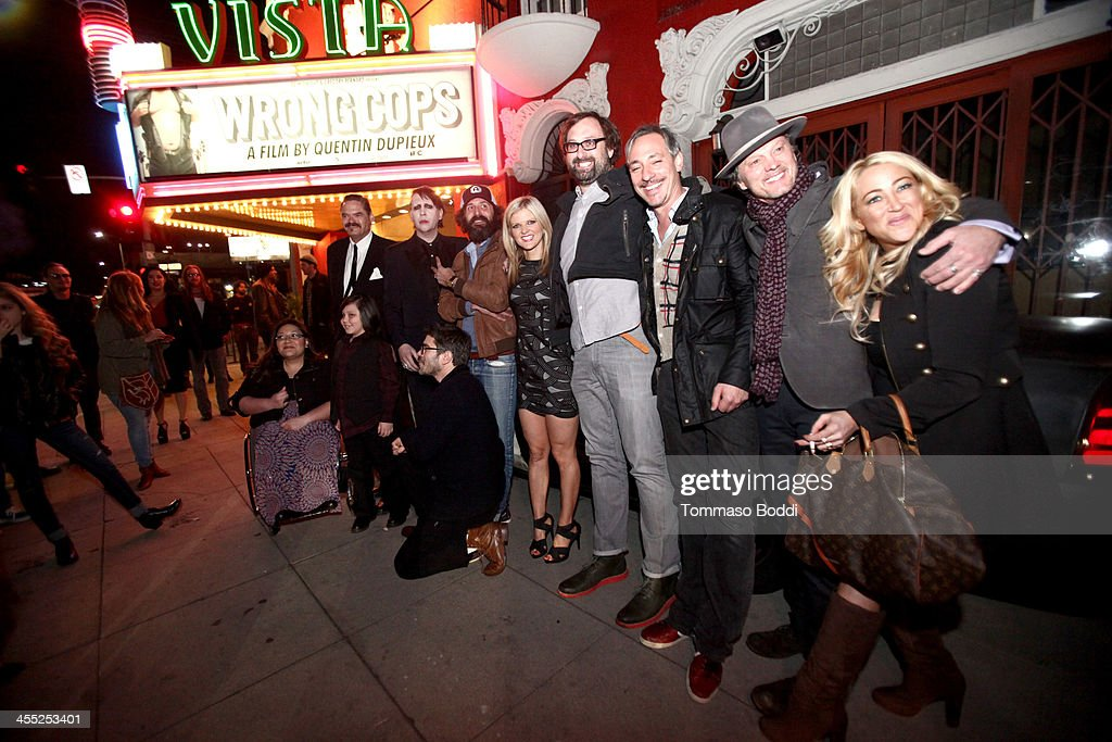 The cast attend the GenArt Screening Series presents 'Wrong Cops' held at the Vista Theatre on December 11, 2013 in Los Angeles, California.