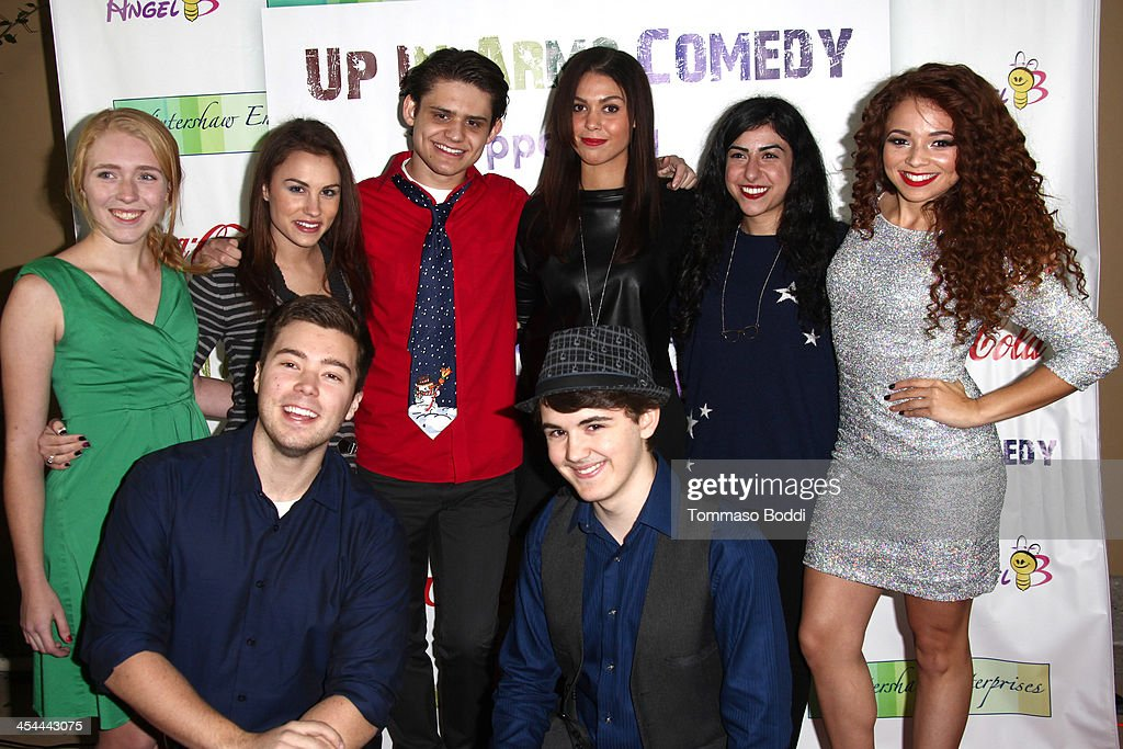 The cast attend the 'Up In Arms' comedy fundraiser benefiting Children's Hospital Los Angeles held at Park La Brea Theater on December 8, 2013 in Los Angeles, California.