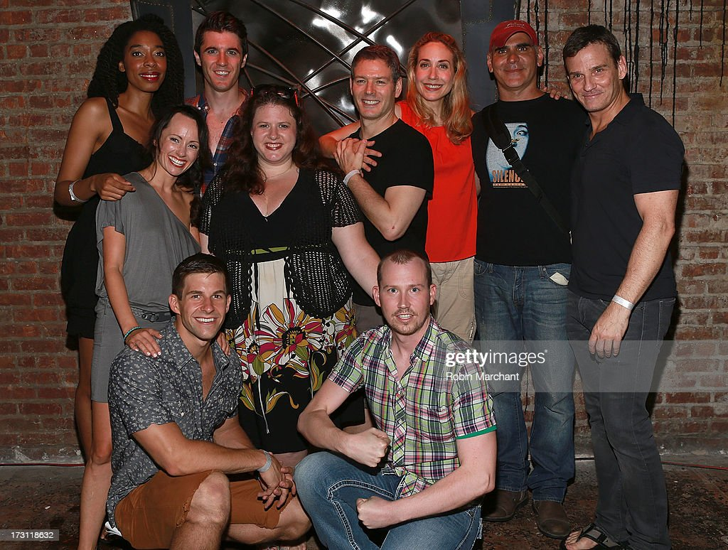 The cast attends the closing night party for 'Silence! The Musical' at Elektra Theatre on July 7, 2013 in New York City.