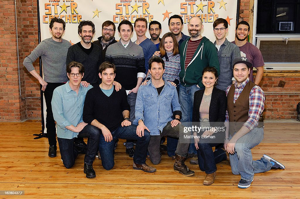The cast attends the press preview of new cast of 'Peter And The Starcatcher' at Gibney Dance Center on February 27, 2013 in New York City.