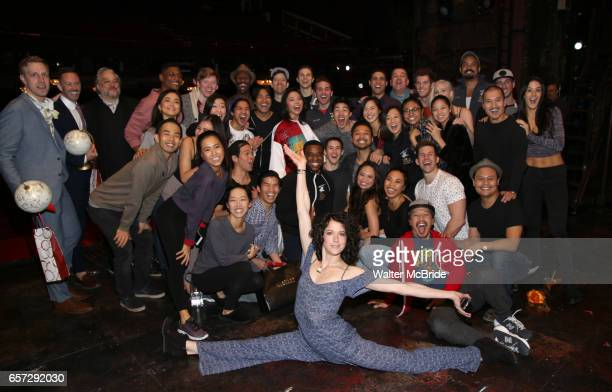 The cast during The Opening Night Actors' Equity Gypsy Robe Ceremony honoring Catherine Ricafort for the New Broadway Production of 'Miss Saigon' at...