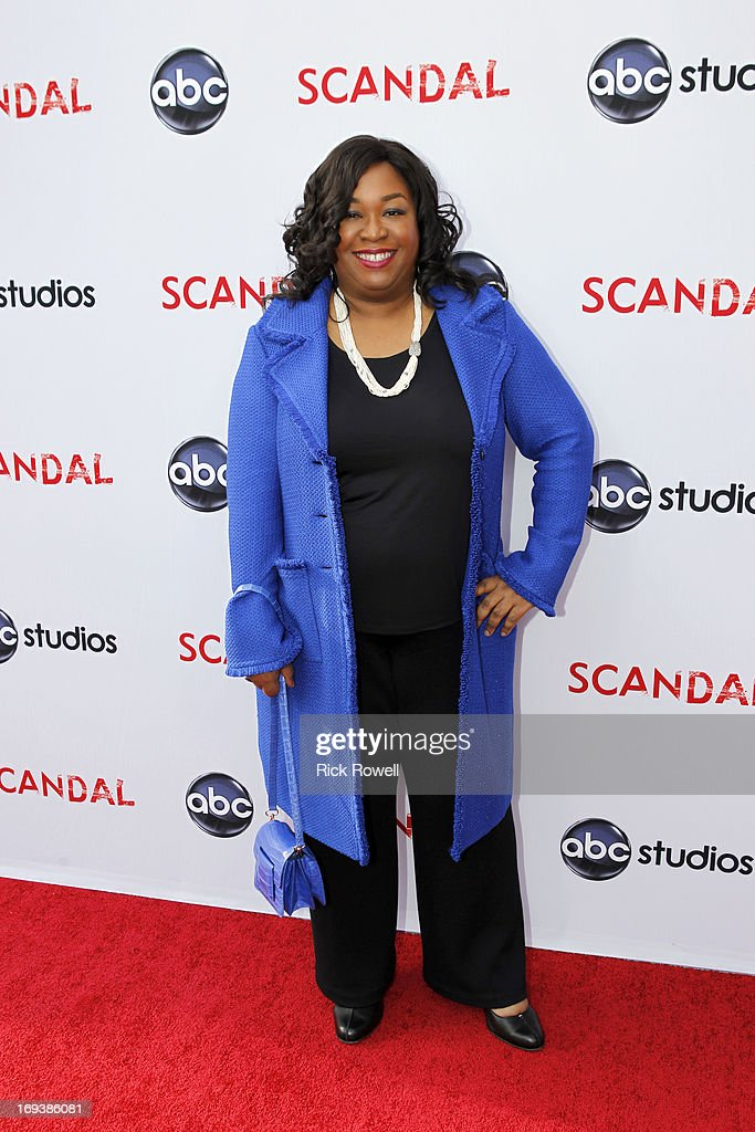 SCANDAL - The cast, guest stars and executive producers of 'Scandal' attended 'An Evening with Scandal' at The Academy of Television Arts & Sciences for their season finale table read and Q&A on Thursday, May 16, 2013. RHIMES