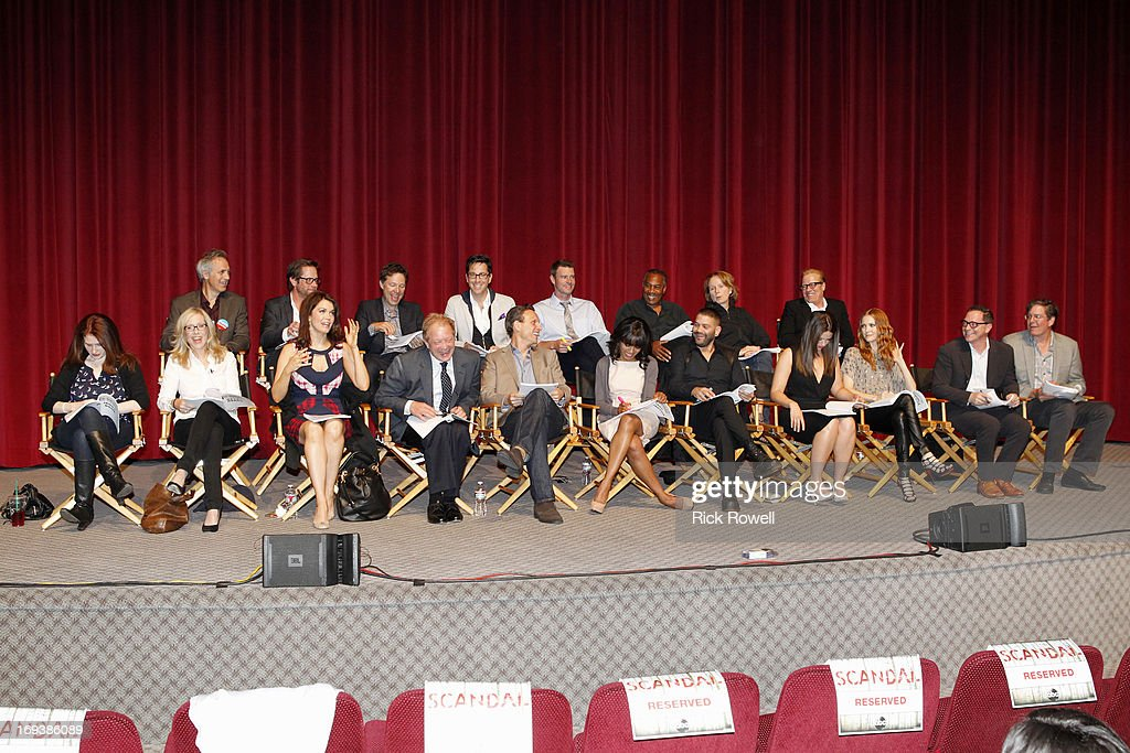 SCANDAL - The cast, guest stars and executive producers of 'Scandal' attended 'An Evening with Scandal' at The Academy of Television Arts & Sciences for their season finale table read and Q&A on Thursday, May 16, 2013. (Photo by Rick Rowell/ABC via Getty Images)