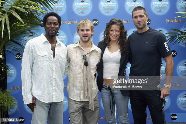 The cast Harold Perrineau Dominic Monaghan Evangeline Lilly and Matthew Fox of the television show 'Lost' attends the ABC Primetime Preview Weekend...