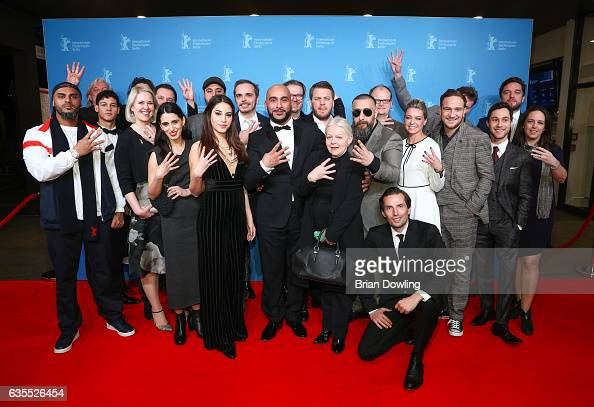 The cast of '4 Blocks' arrives for the TNT Series preview screening of '4 Blocks' at Haus der Berliner Festspiele on February 15 2017 in Berlin...
