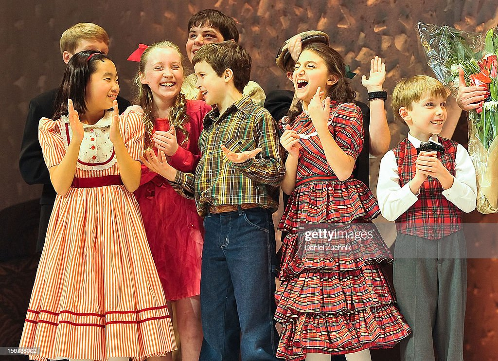 The Musical' performs during 'A Christmas Story: The Musical' broadway opening at Lunt-Fontanne Theatre on November 19, 2012 in New York City.