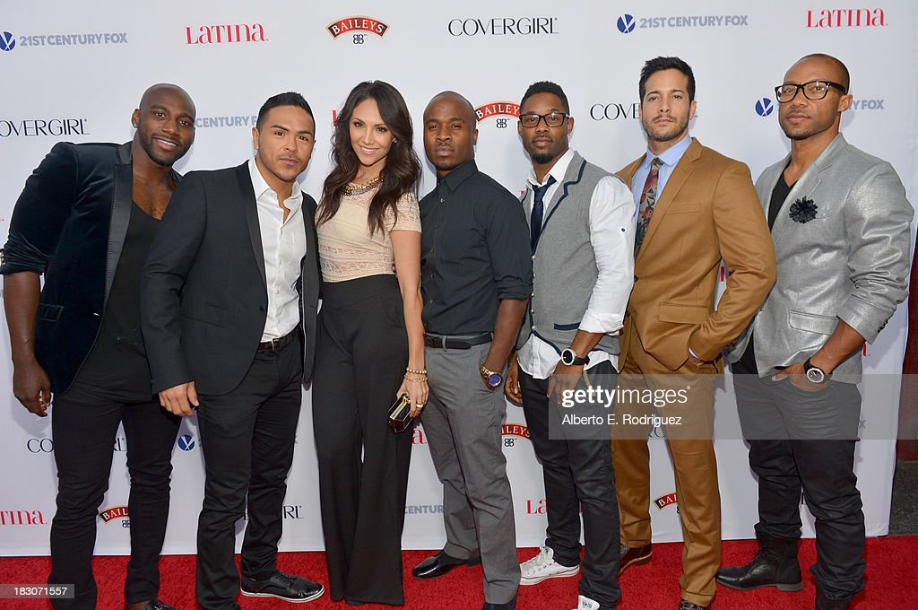 The cast of 'A Step Away' attends Latina Magazine's 'Hollywood Hot List' party at The Redbury Hotel on October 3, 2013 in Hollywood, California.
