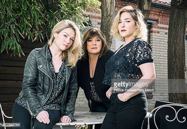 The cast of Accus�� Emilie Dequenne Michele Bernier and Marilou Berry are photographed for Paris Match on April 8 2016 in Paris France