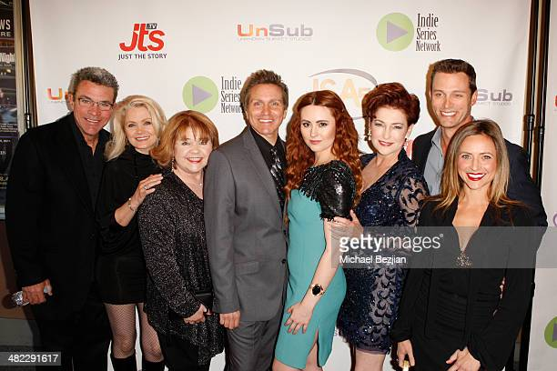 The cast of 'Acting Dead' arrives at the 5th Annual Indie Series Awards at El Portal Theatre on April 2 2014 in North Hollywood California