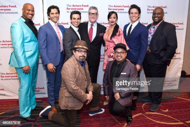 The cast of Aladdin the musical Jawan Crawley Steel Burkhardt Brad Weinstock Brian Gonzales Jonathan Freeman Courtney Reed Don Darryl Rivera Jacob...