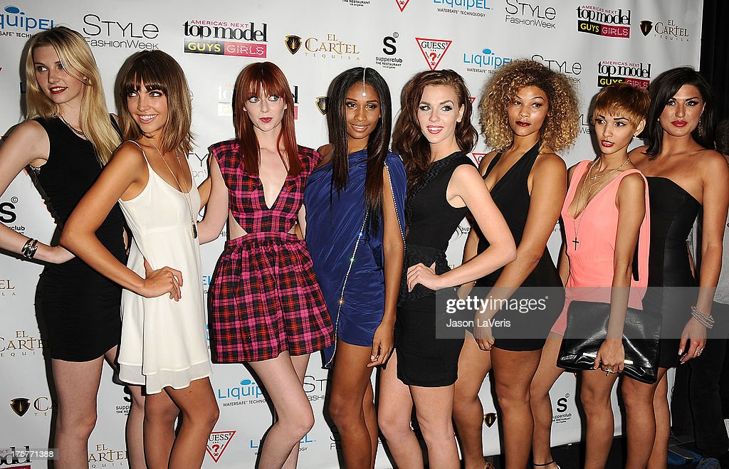 The cast of America's Next Top Model cycle 20 attends the 'America's Next Top Model' 20th cycle gala celebration at SupperClub Los Angeles on August 7, 2013 in Los Angeles, California.