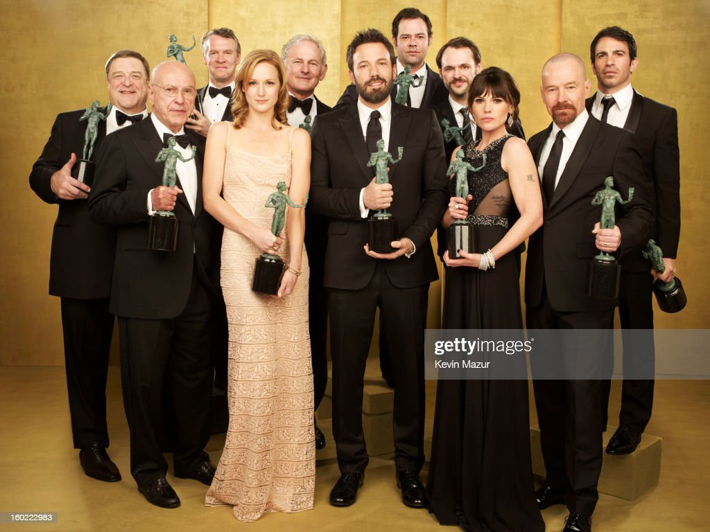 The cast of 'Argo' pose during the 19th Annual Screen Actors Guild Awards at The Shrine Auditorium on January 27, 2013 in Los Angeles, California. (Photo by Kevin Mazur/WireImage) 23116_027_0276_R.jpg