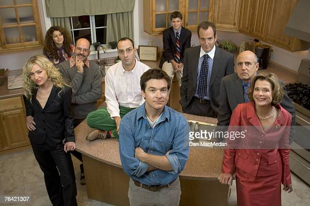The Cast of Arrested Development Left to Right Portia De Rossi Alia Shawkat David Cross Michael Cera Jason Bateman Tony Hale Will Arnett Jeffrey...