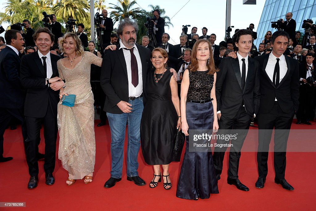 The cast of 'Asphalte' actors Valeria Bruni Tedeschi Gustave Kervern Tassadit Mandi Isabelle Huppert Jules Benchetrit and director Samuel Benchetrit...