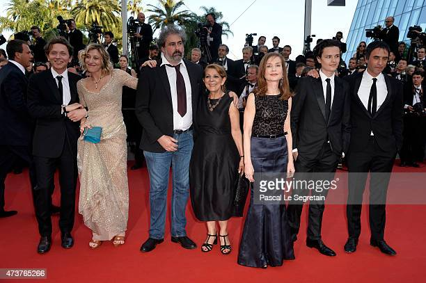 The cast of 'Asphalte' actors Valeria Bruni Tedeschi Gustave Kervern Tassadit Mandi Isabelle Huppert Jules Benchetrit and director Samuel Benchetrit...