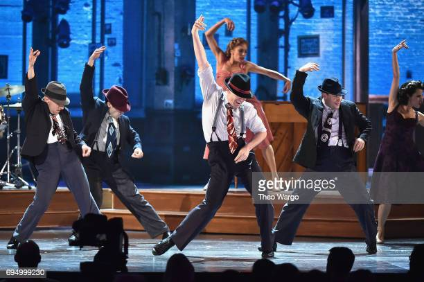 The cast of 'Bandstand' performs onstage during the 2017 Tony Awards at Radio City Music Hall on June 11 2017 in New York City
