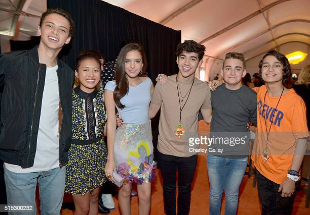 The cast of 'Bella and the Bulldogs' attend Nickelodeon's 2016 Kids' Choice Awards at The Forum on March 12 2016 in Inglewood California