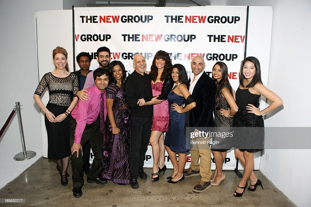 The Cast of 'Bunty Berman Presents... ' poses for a picture during The New Group Bright Lights Off-Broadway 2013 Gala at Tribeca Rooftop on March 11, 2013 in New York City.