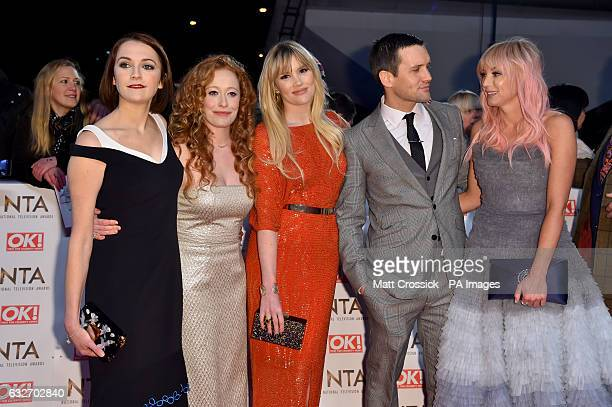 The cast of Call The Midwife attending the National Television Awards 2017 at the O2 London PRESS ASSOCIATION Photo Picture date Wednesday January 25...