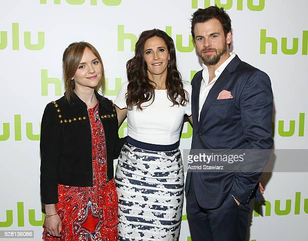 The cast of Casual Tara Lynne Barr Michaela Watkins and Tommy Dewey attend the 2016 Hulu Upftont on May 04 2016 in New York New York