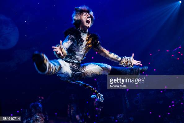 The cast of CATS perform on stage at the firstever revival of Andrew Lloyd Webber's iconic CATS on Broadway on July 31 2016 in New York City