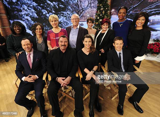 The cast of CBS's 'Blue Bloods' visit the ladies of The Talk on Friday Dec 12 2014 on the CBS Television Network From left Sheryl Underwood Donnie...