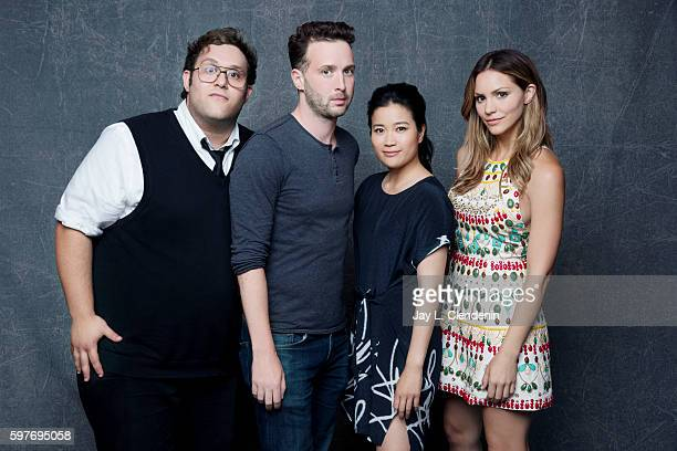 The cast of CBS's 'Scorpion' Ari Stidham Eddie Kaye Thomas Jadyn Wong and Katharine McPhee are photographed for Los Angeles Times at San Diego Comic...
