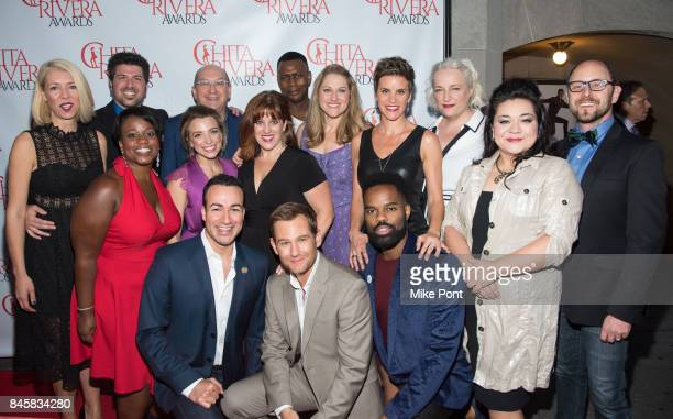 The cast of Come from Away attends the 2017 Chita Rivera Awards at Al Hirschfeld Theatre on September 11 2017 in New York City