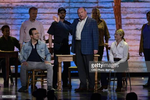 The cast of Come From Away performs at THE 71st ANNUAL TONY AWARDS broadcast live from Radio City Music Hall in New York City on Sunday June 11 2017...