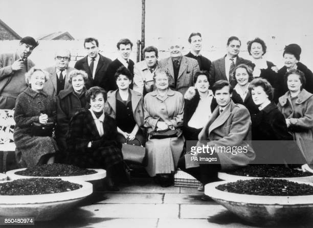 The cast of Coronation Street in the Granada TV Centre car park in Manchester between rehearsals for the first programme networked on December 9 1960...