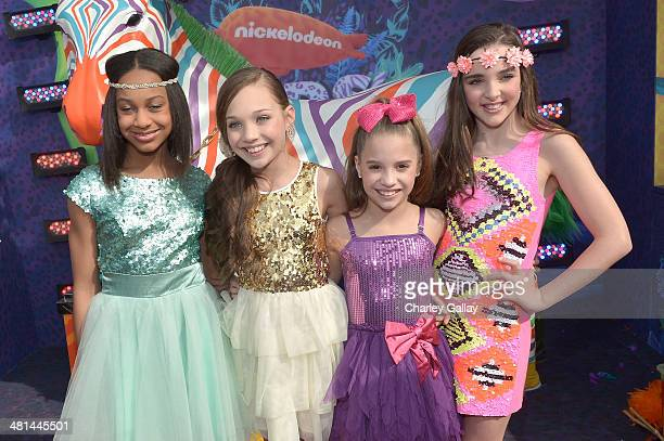 The cast of Dance Moms attend Nickelodeon's 27th Annual Kids' Choice Awards held at USC Galen Center on March 29 2014 in Los Angeles California