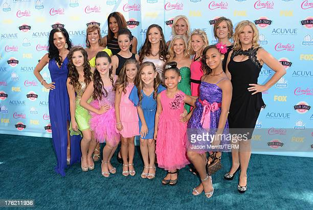 The cast of 'Dance Moms' attend the Teen Choice Awards 2013 at Gibson Amphitheatre on August 11 2013 in Universal City California