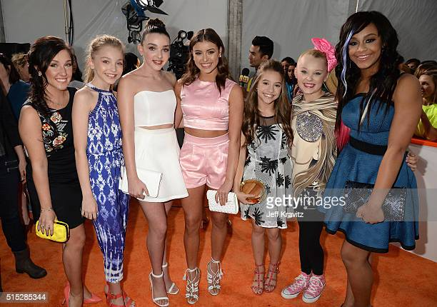 The cast of 'Dance Moms' attends Nickelodeon's 2016 Kids' Choice Awards at The Forum on March 12 2016 in Inglewood California