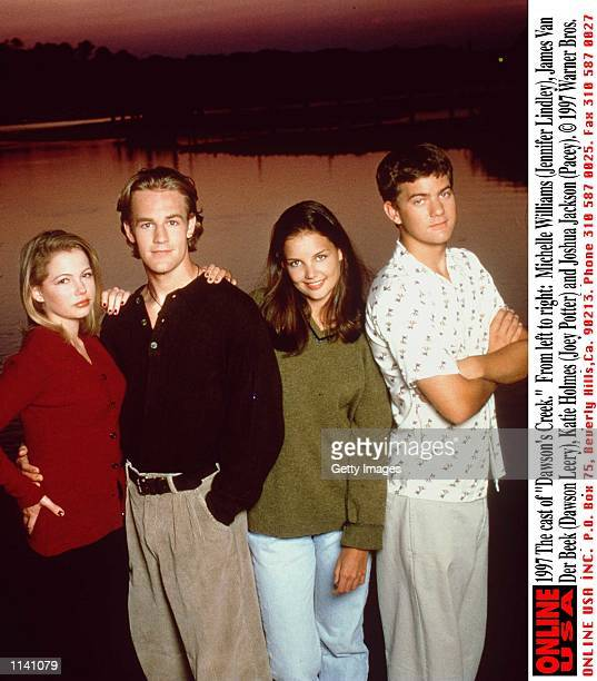 The cast of 'Dawson's Creek' From left to right Michelle Williams James Van Der Beek Katie Holmes and Joshua Jackson