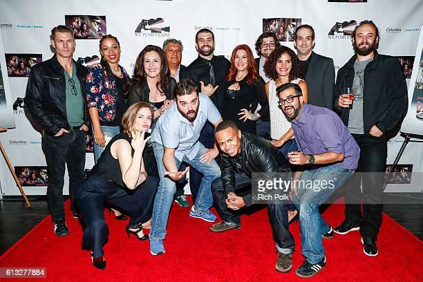 The cast of 'Dependent's Day' Kevin Oestenstad Myshell Tabu Bertila Damas Javier Ronceros Michael David Lynch Lisa Ann Walter Josh Staman Ashley Dyke...