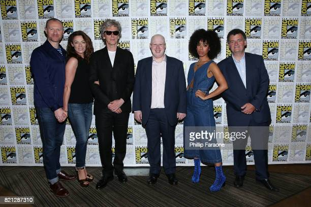 The cast of Doctor Who attends the press line at ComicCon International 2017 on July 23 2017 in San Diego California
