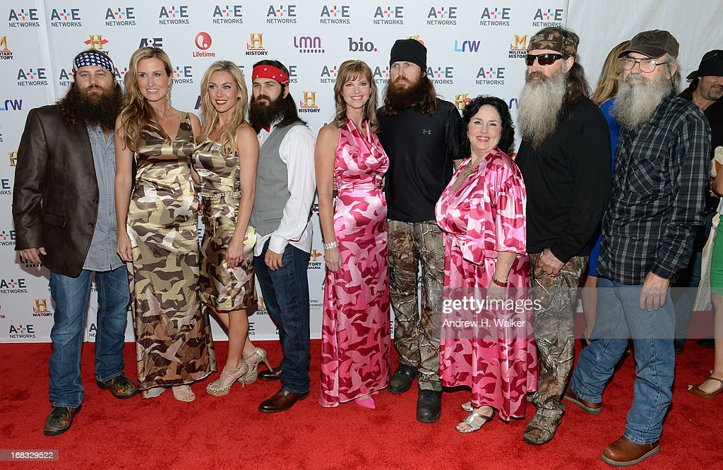 The cast of 'Duck Dynasty' attends the A+E Networks 2013 Upfront on May 8, 2013 in New York City.