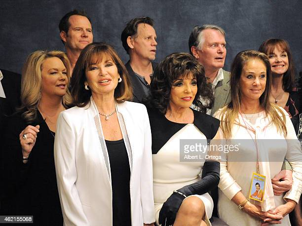 The cast of 'Dynasty' at The Hollywood Show held at The Westin Hotel LAX on January 24 2015 in Los Angeles California