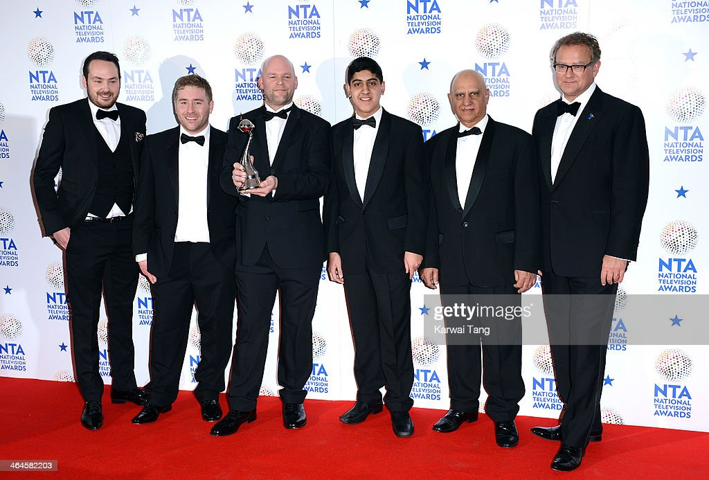 The cast of 'Educating Yorkshire' pose in the winners room at the National Television Awards at 02 Arena on January 22, 2014 in London, England.