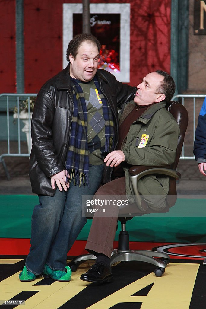 The cast of 'Elf' perform at Day One of the 86th Anniversary Macy's Thanksgiving Day Parade Rehearsals at Macy's Herald Square on November 19, 2012 in New York City.