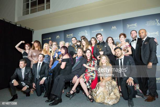 The Cast of Emmy Award Winning Series 'The Bay' attend the 44th Annual Daytime Creative Arts Emmy Awards at Pasadena Civic Auditorium on April 28...