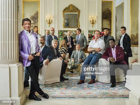 The cast of Expendables 3 Antonio Banderas Arnold Schwarzenegger Dolph Lundgren Harrison Ford Jason Statham Kellan Lutz Kelsey Grammer Mel Gibson...