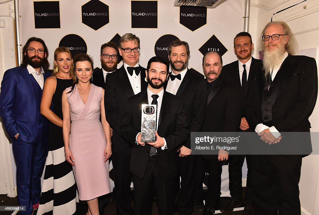 The cast of Freaks and Geeks actors Martin Starr Busy Philipps Linda Cardellini Seth Rogen creator Paul Feig actor Samm Levine director Judd Apatow...